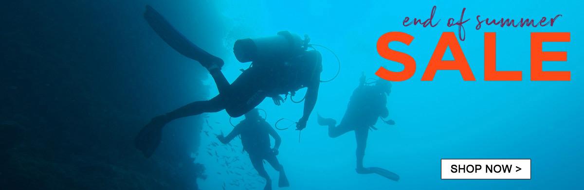 End of summer scuba diving sale