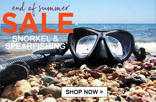 End of summer Spearfishing & snorkel sale