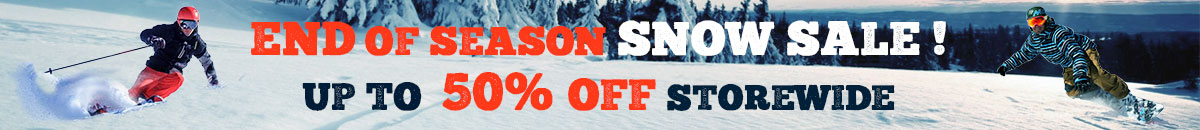 End of season snow wear sale