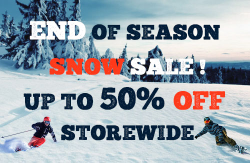 End of season snow sale