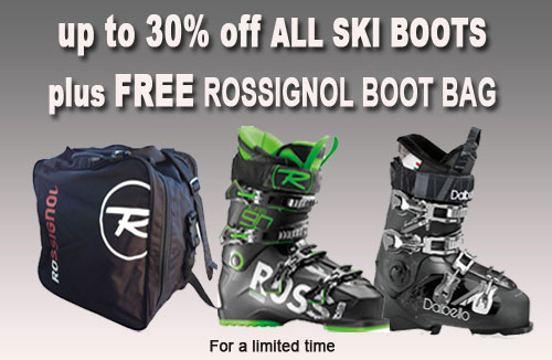 up to 30% off ski boots plus Free Boot bag