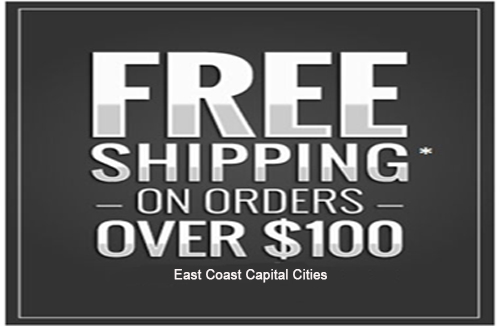 Free Shipping orders over $100