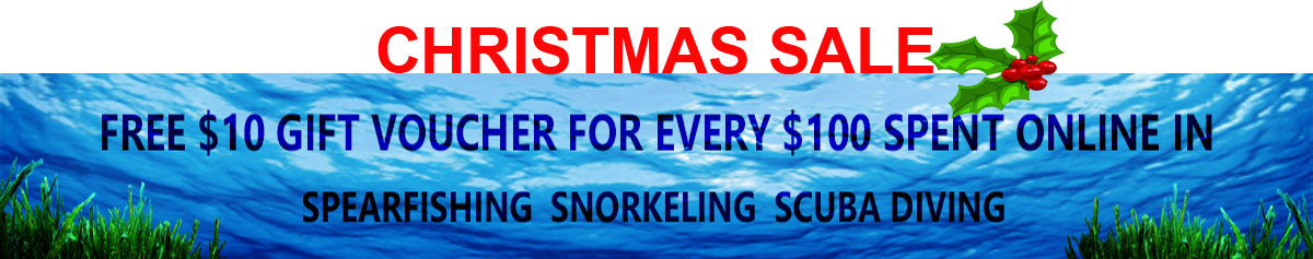 Free Gift Voucher on all Snorkel, Spearfishing and Scuba Gear purchased
