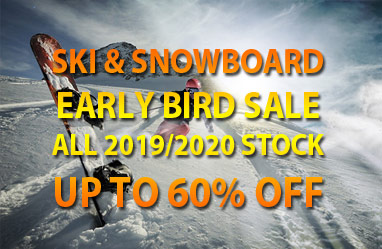 Snowboard & Ski sale early bird up to 60% off