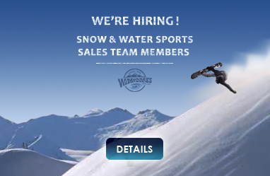 We\'re hiring Snow and watersports sales team members enquire now