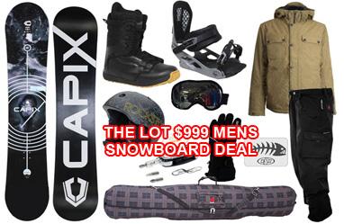 Snowboard gear the lot packagae deal