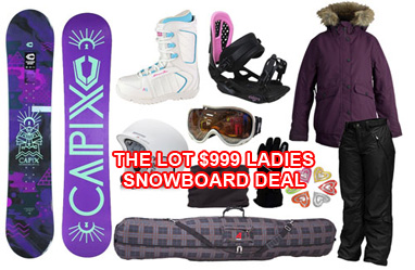 Snowboard gear the lot packagae deal