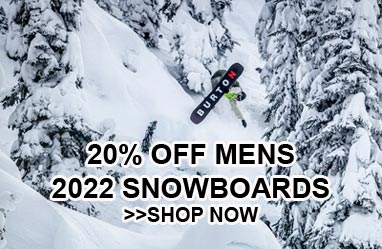 20% off mens 2022 snowboards