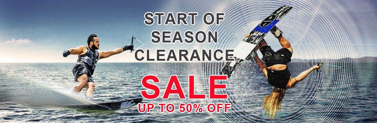 Start of season wakeboard sale up to 50% off