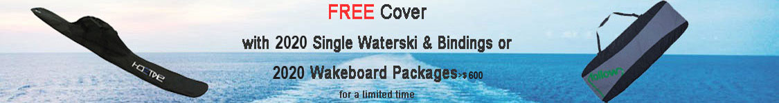 Free bag with 2020 waterskis & wakeboard packages