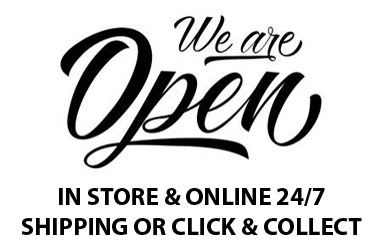 we are open in store & online