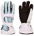 Leki Womens Stripes Goretex Gloves - White