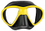 Mares X-Free Dive Mask - Black/Yellow