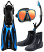Tusa SF0101 Hyflex Vesna Fin with Powerview Mask & Snorkel
