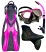 Apollo Glide Fin Package Pink