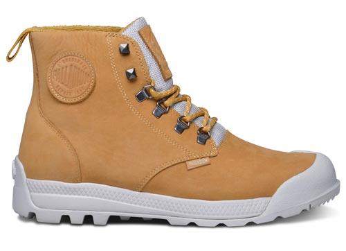 Palladium Pampatech Hi Lea Waterproof Boots - Amber Gold