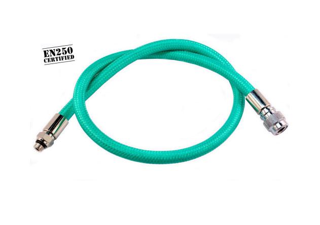 Diveflex Regulator Hose Braided 90cm 35in - Green