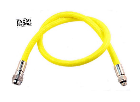 Diveflex Regulator Hose Braided 90cm 35in - Yellow