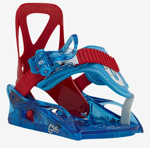 Burton 2017 Grom Boys Snowboard Binding - Red/Blue