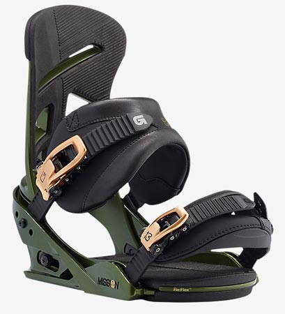 Burton 2017 Mission Snowboard Binding - Track Day Green