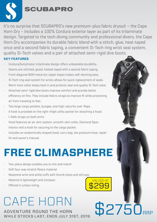 Scubapro Cape Horn Womens Drysuit details