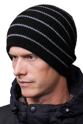 Celtek Mule Stripe Beanie Black