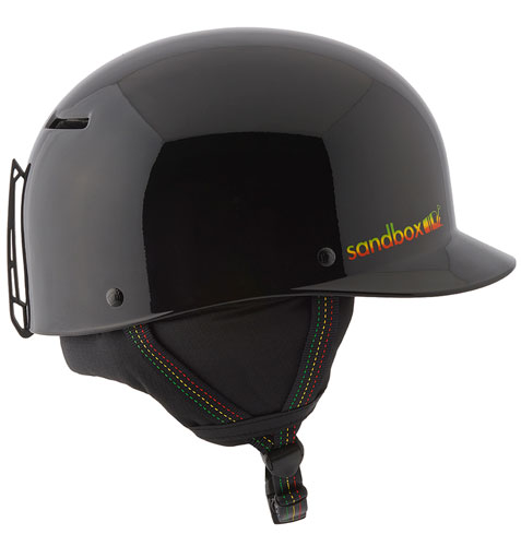 Sandbox Classic 2.0 Snow Helmet - Black Rasta (side)