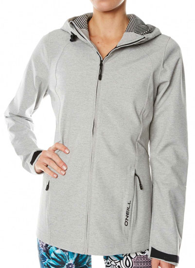 O'Neill Solo Premium 2016 Softshell - Silver Melee (front)
