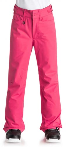 Roxy 2017 Girls Backyard Snow Pant - Paradise Pink