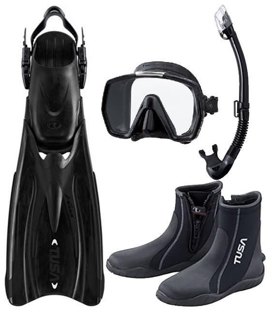 Tusa HyFlex Vesna Fin Open Heel All Sizes for Scuba Snorkeling Black
