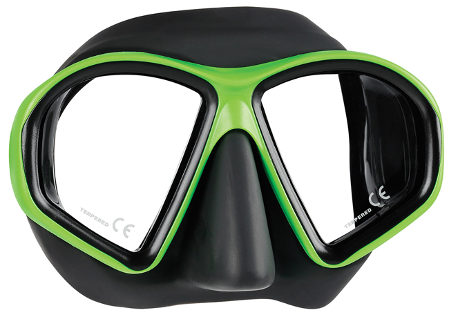Mares Sealhouette Mask - Black/Lime