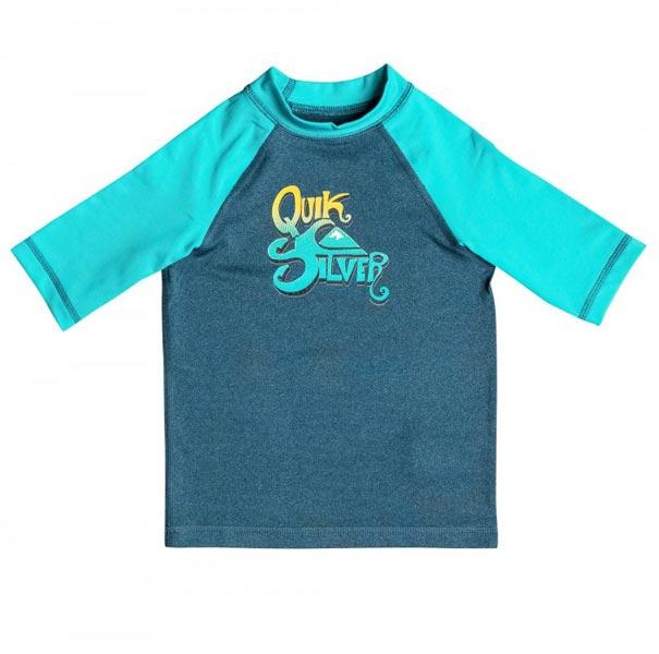 Quiksilver Kids Sunsetter Short Sleeve Rashie (front)