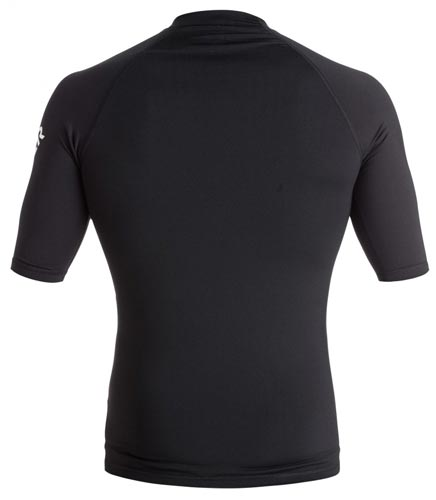 Quiksilver Mens All Time S/S Rashie - Black (back)