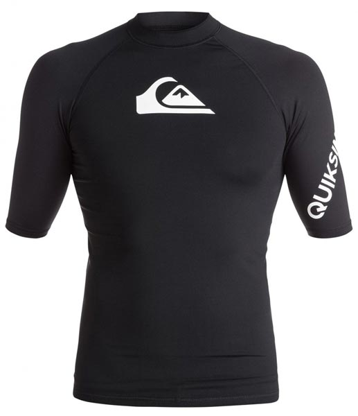 Quiksilver Mens All Time S/S Rashie - Black (front)