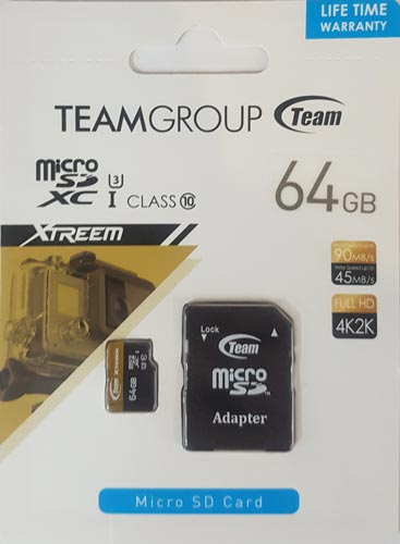 Team Group Micro SD Card 64GB