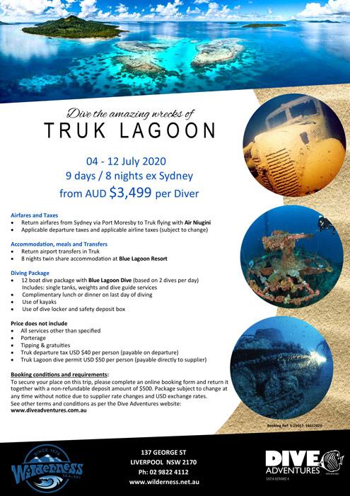 Truk Lagoon Micronesia July 2020
