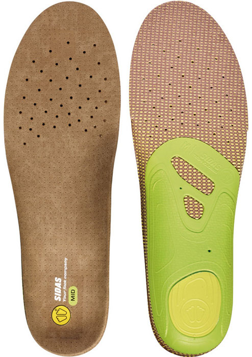 Sidas 3Feet Outdoor Mid Insoles