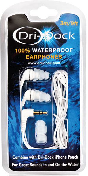 Dri-Dock Waterproof Ear Phones