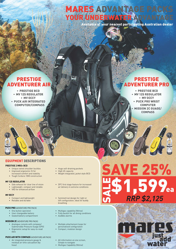 Mares Prestige Dive Package