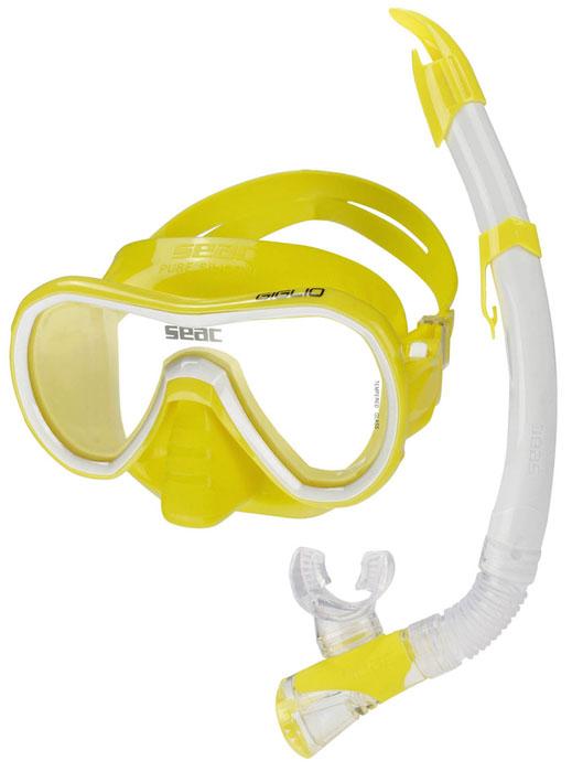 Seac Giglio Mask & Snorkel Yellow
