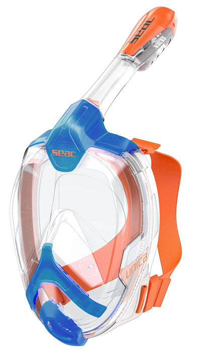 Seac Unica Full Face Mask Blue/Orange