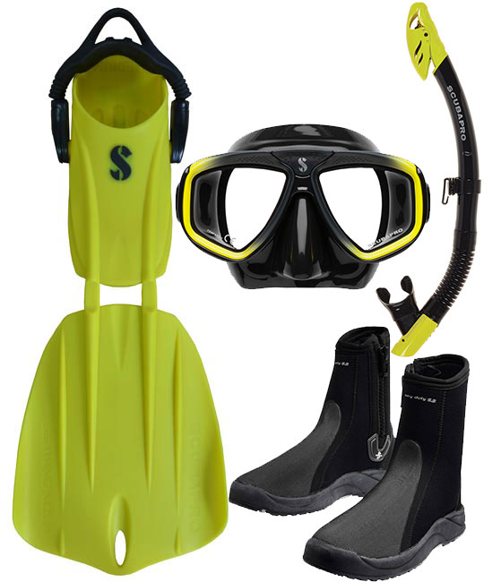 Scubapro Nova 2 Fin Package Yellow