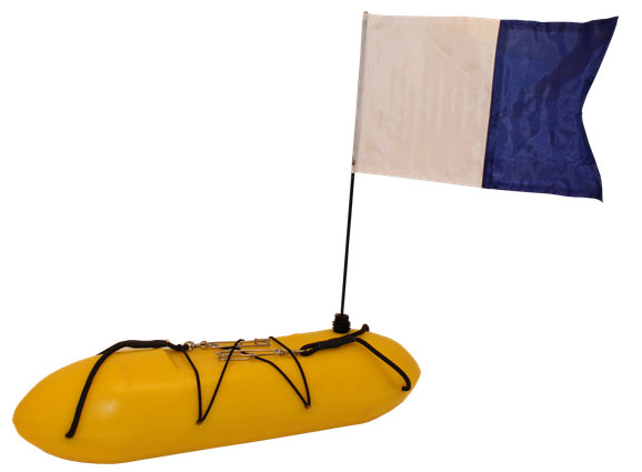 Cressi 10LT Rigid Float and Flag
