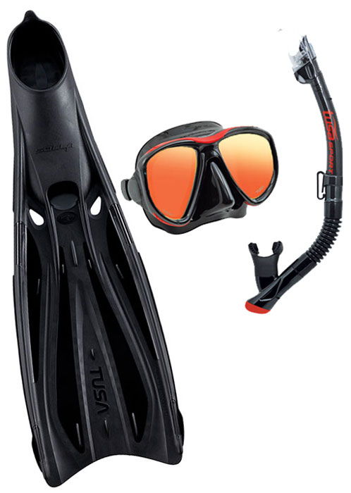 Tusa Sola FF23 Fin & Powerview Mask Set