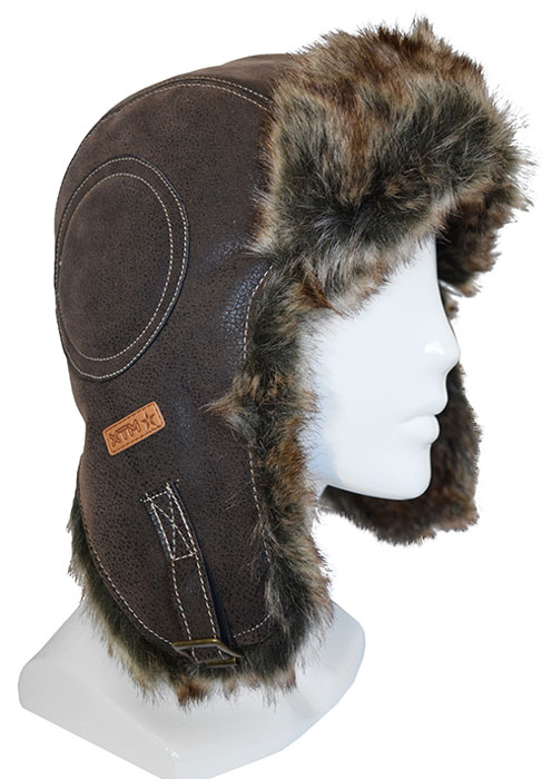 XTM Leather Bomber Hat