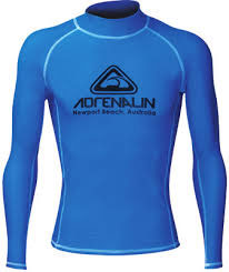 Adrenalin Junior Vivid L/S Rash Shirt Blue