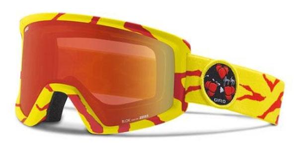 Giro Blok Ltd Red/Yellow