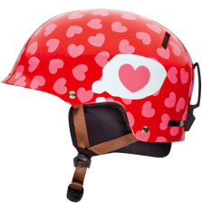 Giro Kids Tag Red Hearts