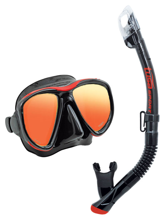 Tusa Powerview Mask & Snorkel Red
