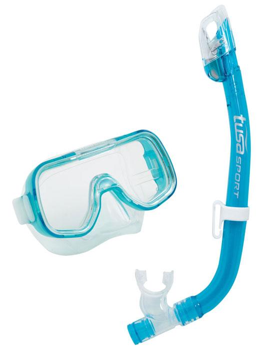 Tusa Mini Kleio & Dry Top Snorkel Blue